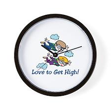 Skydiving High Wall Clock
