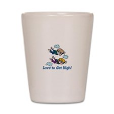 Skydiving High Shot Glass