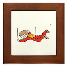 Boy Skydiver Framed Tile