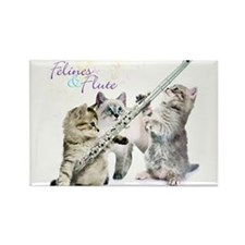 Felines Flute Rectangle Magnet