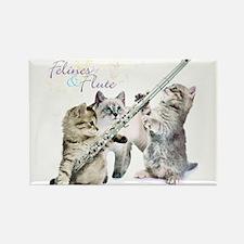 Felines & Flute Rectangle Magnet