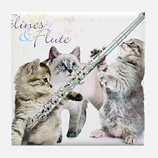 Felines Flute Tile Coaster