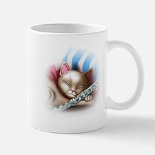 Napping Cat and Flute Mug