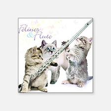 Felines & Flute Sticker
