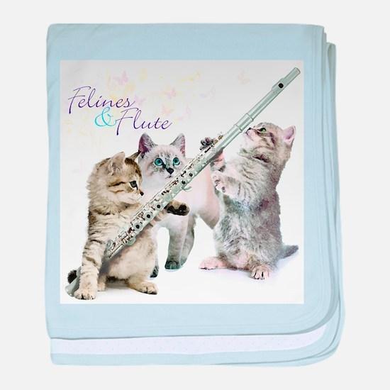 Felines & Flute baby blanket