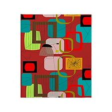 Mid-Century Modern Abstract Throw Blanket