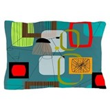 Mid century modern abstract Pillow Cases
