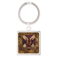 antique Ulster Scots shield Square Keychain