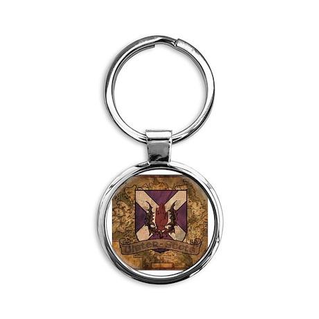 antique Ulster Scots shield Round Keychain