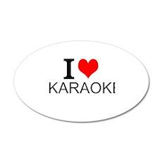 I Love Karaoke Wall Decal