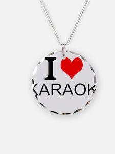 I Love Karaoke Necklace