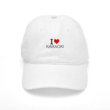 I Love Karaoke Baseball Baseball Cap