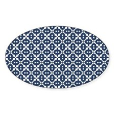 Navy Blue Unique Pattern Decal