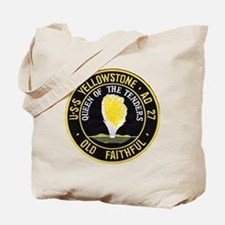 uss yellowstone ad 27 patch Tote Bag
