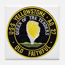 uss yellowstone ad 27 patch Tile Coaster