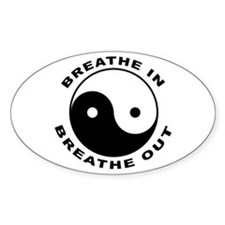 Ying Yang Breath Oval Decal