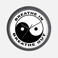 Ying Yang Breath Wall Clock