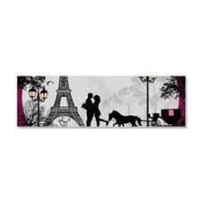 Romantic Landscape Car Magnet 10 x 3