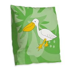 Pelican Burlap Throw Pillow