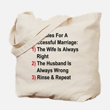 Rules For A Successful Marriage Tote Bag
