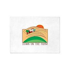 Down On The Farm 5'x7'Area Rug