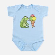 Frog with Icecream Body Suit