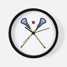Lacrosse Gear Wall Clock
