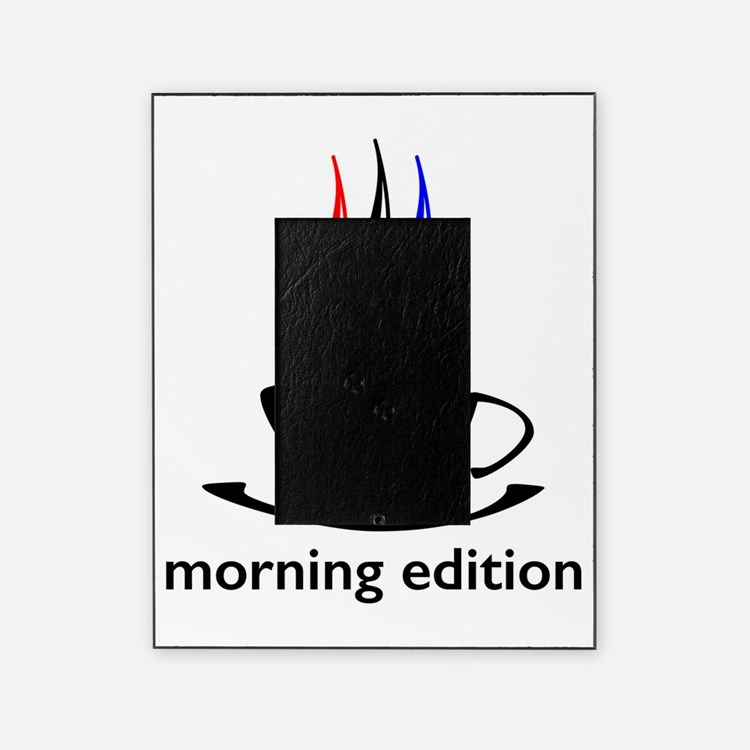 me coffee cup morning edition Picture Frame