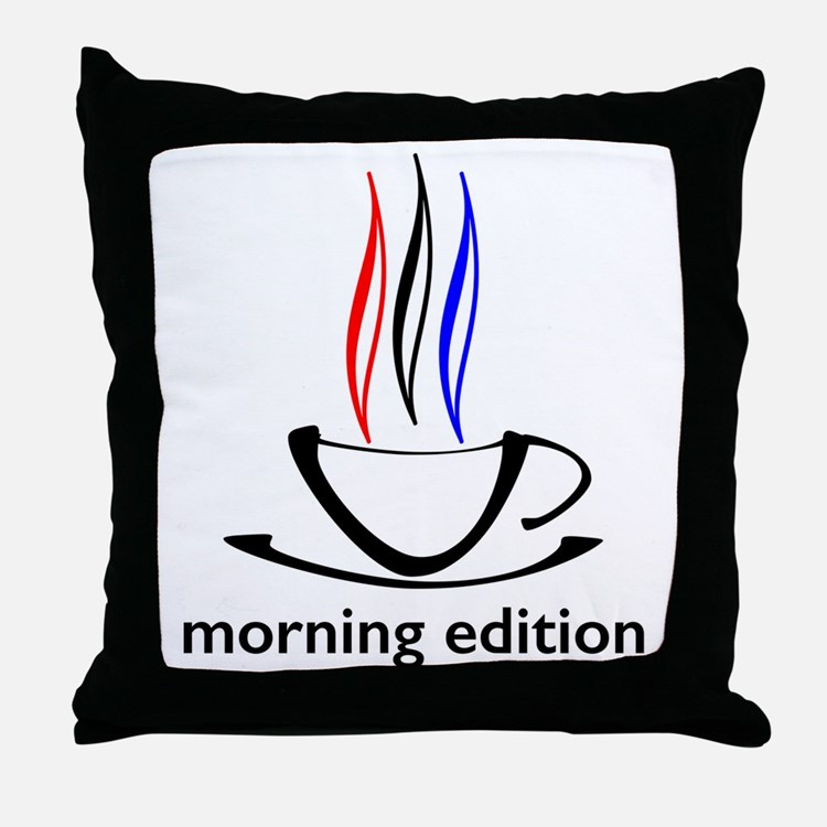 me coffee cup morning edition Throw Pillow
