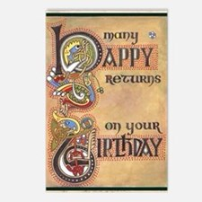 Celtic Happy Birthday Postcards (Package of 8)