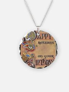 Celtic Happy Birthday Necklace