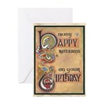 Celtic Happy Birthday Card Greeting Cards