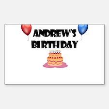 Andrew's Birthday Rectangle Decal