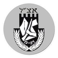 The Irgun (Etzel) Logo Round Car Magnet