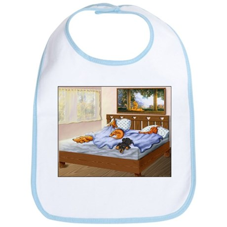 Sleeping Dachshunds Bib