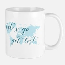 Let's go get lost world map Mugs