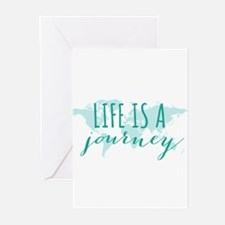 Life is a journey Greeting Cards