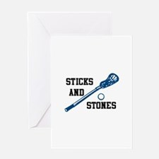 Sticks And Stones Greeting Cards
