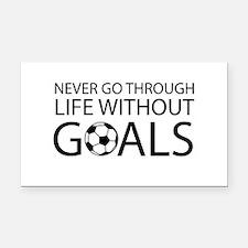 Life goals soccer Rectangle Car Magnet