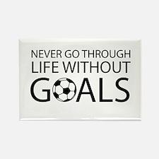 Life goals soccer Magnets