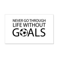 Life goals soccer Wall Decal