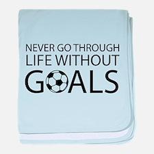 Life goals soccer baby blanket