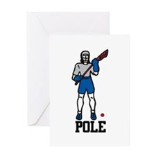 Lacrosse Pole Greeting Cards