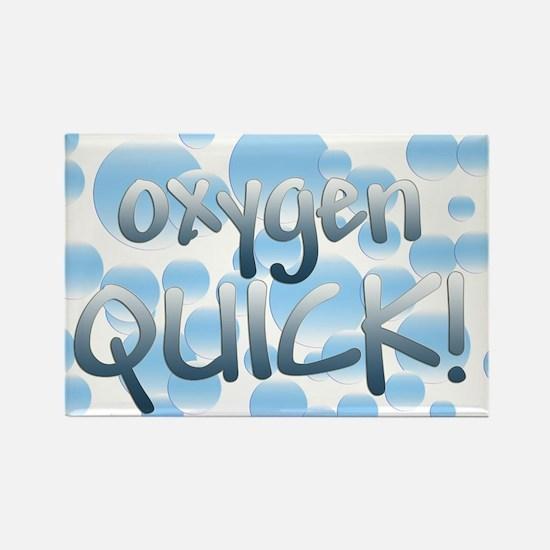 Oxygen Quick Rectangle Magnet