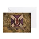 Ulster Scots Antique Map Greeting Cards