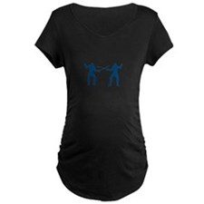 Men Fencing Maternity T-Shirt