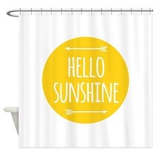Cute Hello Shower Curtain