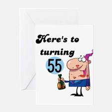 CHEERSTO55 Greeting Cards