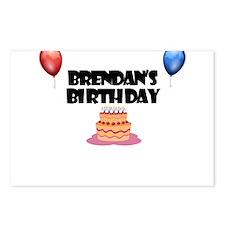 Brendan's Birthday Postcards (Package of 8)