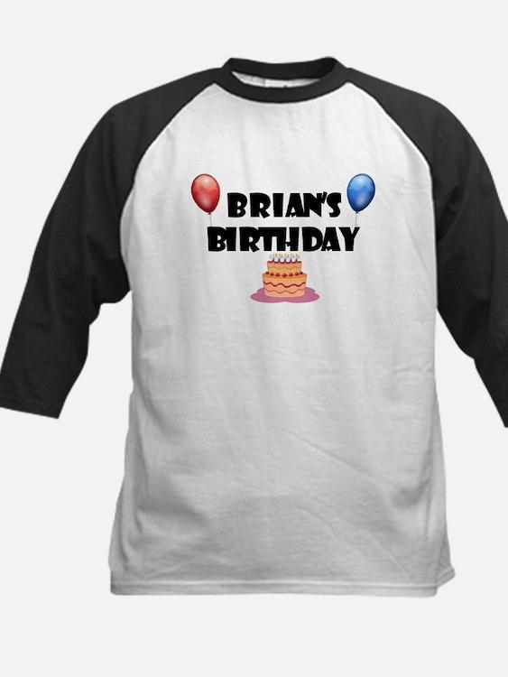 Brian's Birthday Kids Baseball Jersey